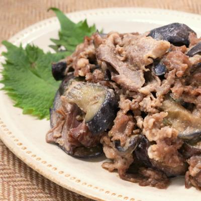 牛肉とナスの味噌炒め
