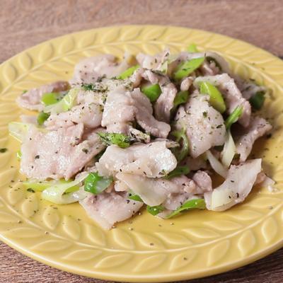 ご飯が進む 豚バラのネギ塩糀炒め