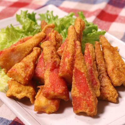 カニカマの揚げ焼き カレーフリット