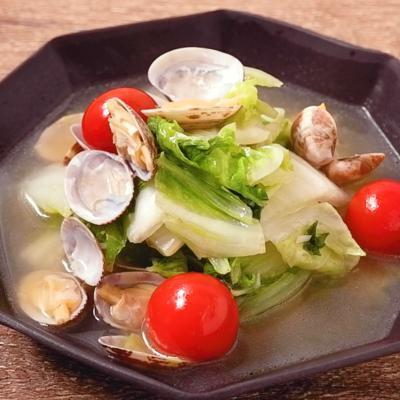 白菜とアサリのコンソメ煮