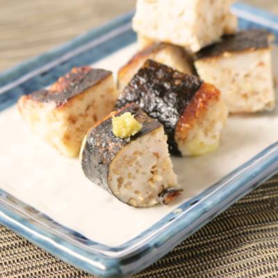 鶏ひき肉とはんぺんチーズの磯辺焼き