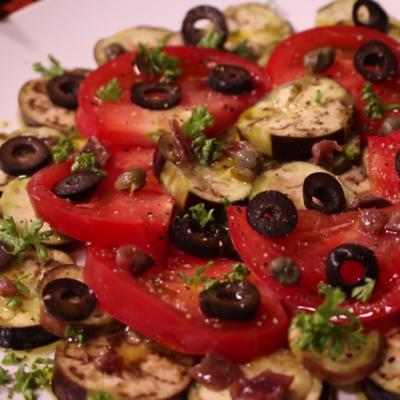 レンジでお手軽!蒸し茄子のイタリアンサラダ