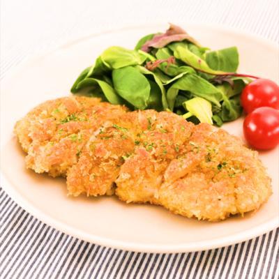 鶏むね肉のカレー風味カツレツ