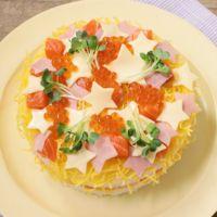 きらきら星のちらし寿司ケーキ