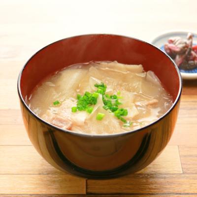 大根麺と豚肉のトロトロスープ