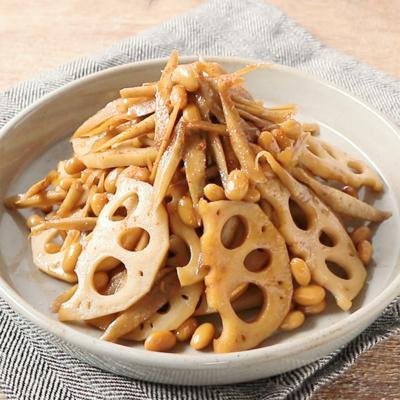 大豆と根菜のきんぴら