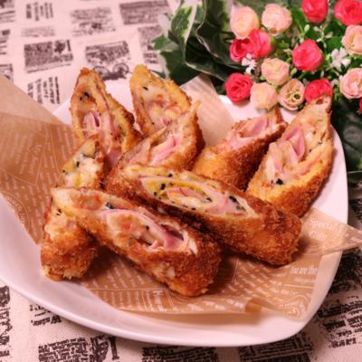 色んな味が楽しめる!食パンのロールフライ