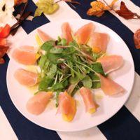 柿と生ハムのサラダ