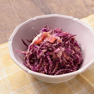 紫キャベツのスパイシーサラダ