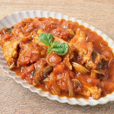 鶏手羽中のトマト煮