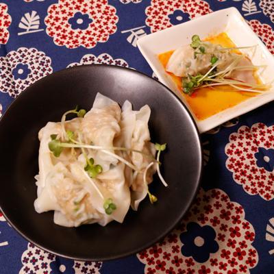 鶏ひき肉と高野豆腐の水餃子