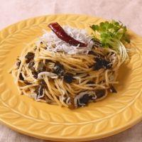 焼き海苔で!海苔としらすのスパゲティ