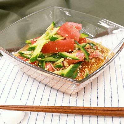 5分で完成!きゅうりとトマトの中華風サラダ