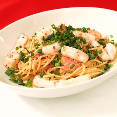 ちょっぴり贅沢!いかとたらこのスパゲティ