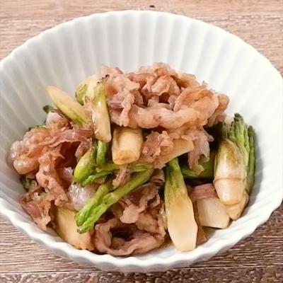 たらの芽と豚バラ肉の炒め物