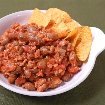 うずら豆で作るチリコンカン