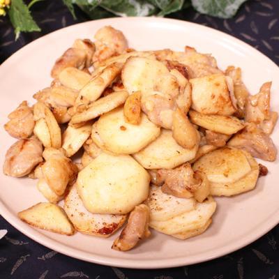 ほくほく里芋と鶏の塩こうじ炒め