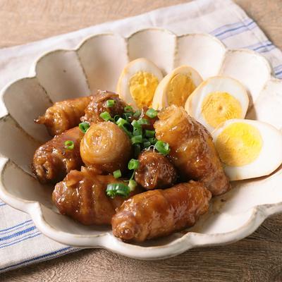 くるくる巻いた豚バラ肉の角煮風