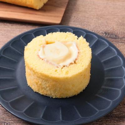 バナナカスタードロールケーキ