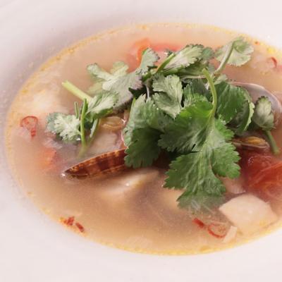 アサリと鶏肉のエスニック風雑煮