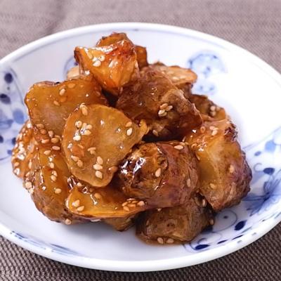 サクサク菊芋の甘辛和え
