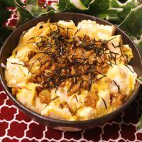 ひとりごはんにピッタリ!豆腐と納豆の玉子丼