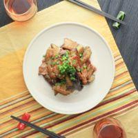 ごま油香る 豚バラ肉とナスの味噌炒め