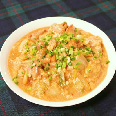親子丼風!鶏と白菜の卵とじ