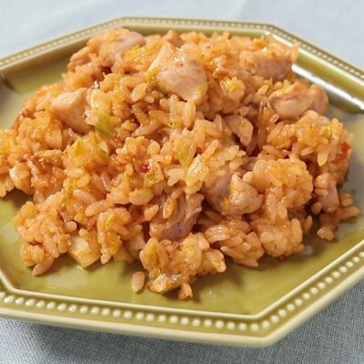 鶏肉と白菜のスパイシー炒めごはん