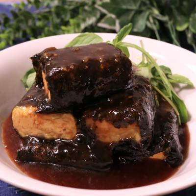 豆腐の海苔巻き甘辛ソース