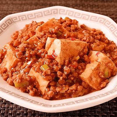 大豆ミートのピリ辛麻婆豆腐