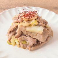 ごま油香る 豚肉と白菜のポン酢炒め