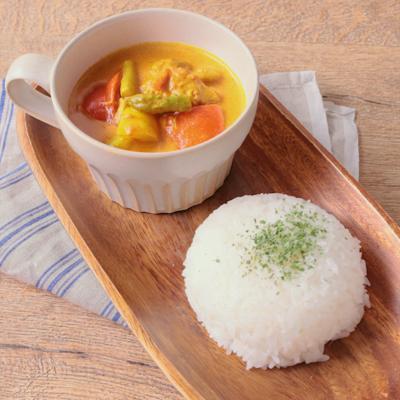 彩り野菜のバターチキンカレー