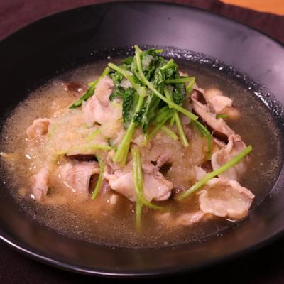ほっと温まる!豚肉と野菜のみぞれ煮