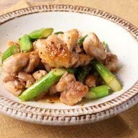 鶏もも肉とアスパラのハニーマスタード焼き