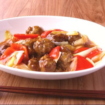 黒酢で作る サッパリ肉団子の甘酢あんかけ