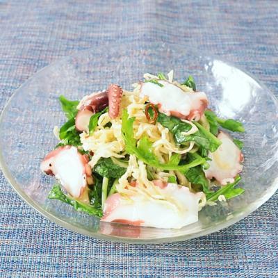 切り干し大根とタコのライムドレッシングサラダ