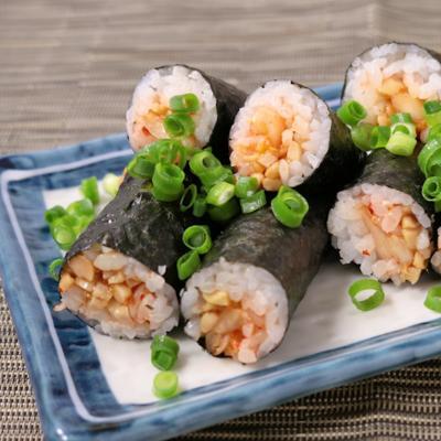 韓国風 納豆キムチ細巻き