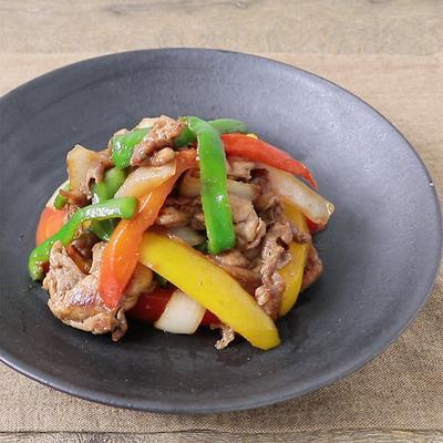 豚こま肉と彩り野菜の黒酢炒め