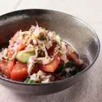 トマトとしらす干しの和風サラダ