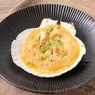ピリ辛 バター風味の貝焼き味噌