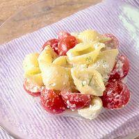 カッテージチーズとミニトマトのパスタサラダ