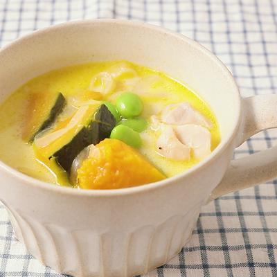 具だくさんまろやか豆乳スープ