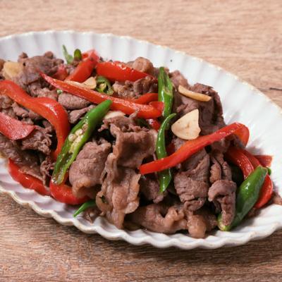 青唐辛子と牛肉の辛炒め