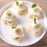 キャラメルバナナのフルーツフリルサンドイッチ
