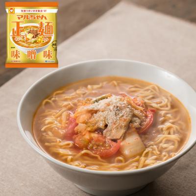 ピリッと旨い豚キムチトマト正麺(味噌味)