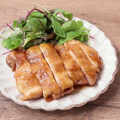 レンジで作れる 鶏もも肉のゆず茶照り焼き