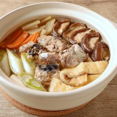 生姜風味のサバの水煮缶鍋