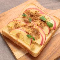 スライスりんごのシナモントースト