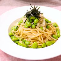 たっぷり枝豆の和風スパゲッティ